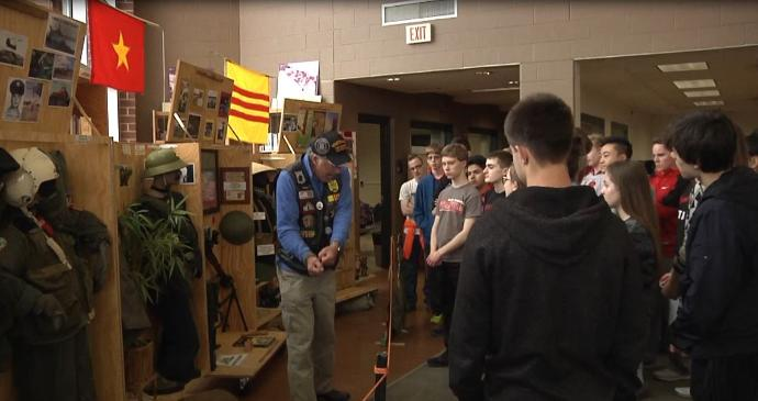 Kimberly students learn about Vietnam War from veterans