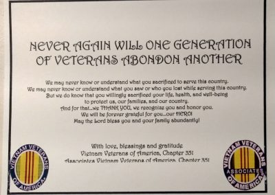 2020 Veterans Day Visits